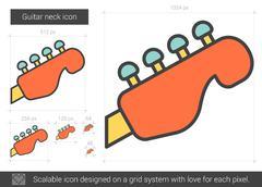Guitar neck line icon Stock Illustration