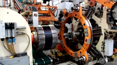 Forming machine and tire manufacturer robotic equipment Stock Footage