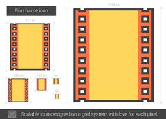 Film frame line icon Stock Illustration