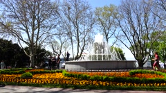 Fountain in the park of the city of Sevastopol. The Russian fleet. Crimea. Stock Footage