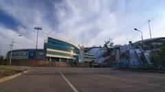 Sunkar International Ski Jumping Complex in Almaty, Kazakhstan Stock Footage