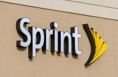 Sprint Exterior and Logo Stock Photos