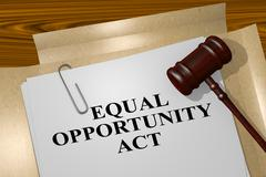 Equal Opportunity Act - legal concept Stock Illustration