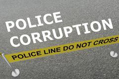 Police Corruption concept Stock Illustration