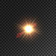 Light of sun, star with lens flare effect Stock Illustration