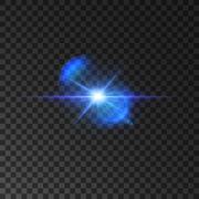 Flickering blue light flash of shining star Stock Illustration