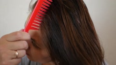 Comb hair comb Stock Footage