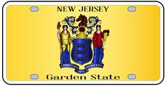 New Jersey Flag License Plate Piirros