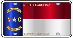 North Carolina License Plate Flag Piirros