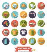 Sports round color icons vector set  Piirros