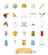 Sports flat design icons vector set  Piirros
