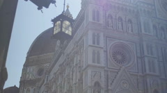 Cathedral and Dome Florence Italy in the Morning - 29,97FPS NTSC Stock Footage