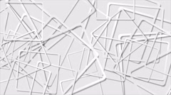 Abstract grey tech squares video animation Stock Footage
