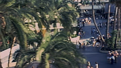 Disneyland 1977: view from the cablecar Stock Footage