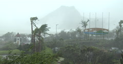 Violent Wind And Heavy Rain Hit Coast As Major Hurricane Hits Stock Footage
