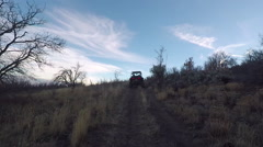 Off road 4x4 ride evening mountain trail POV HD Stock Footage