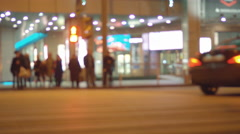 Motion of colourful diffused blurred and defocused twinkling lights Stock Footage