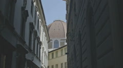 Shady Street in Florence - 25FPS PAL Stock Footage