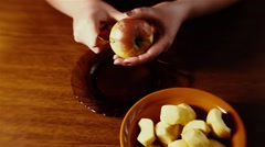 Preparation of Apple Pie Stock Footage
