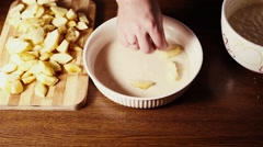 Preparation of apple pie. Stock Footage