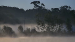 Quiet lake in the morning Stock Footage
