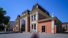 Regional Philharmonic Hall named by Kaldayakov in Shymkent Stock Footage