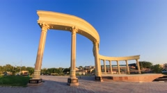 A small arch in one of the parks in Shymkent, Kazakhstan Stock Footage