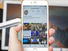 WROCLAW. POLAND- 20, October, 2016: Donald Trump's Instagram account shown on Stock Photos