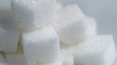 Extreme close up view of cube sugar with rotating Stock Footage
