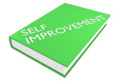 Self Improvement literature concept Stock Illustration