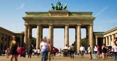 Brandenburg Gate Landmark 4K Timelapse In Summer, Berlin. Stock Footage