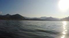 Lake Skadar. Montenegro Stock Footage