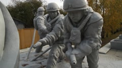 Self funded memorial to the Chernobyl disaster liquidators. Stock Footage