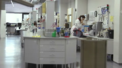 Woman working in the laboratory. Stock Footage