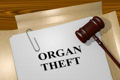 Organ Theft - legal concept Stock Illustration