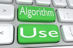 Algorithm Use concept Stock Illustration
