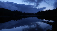 Timelapse at the lake at night in Canada Stock Footage