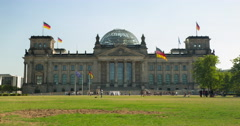 Reichstag Landmark 4K Timelapse In Summer, Berlin. Stock Footage