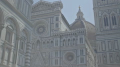 Holy Buildings in Florence Italy - 29,97FPS NTSC Stock Footage