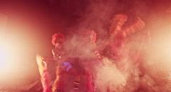 Clowns Girls. Carnival. Halloween.Circus Stock Footage