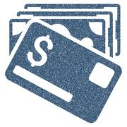 Banknotes And Card Grainy Texture Icon Stock Illustration