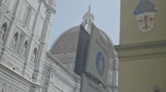 Street View on Cupola Duomo Florence Italy - 25FPS PAL Stock Footage