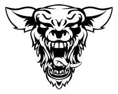 Wolf or Werewolf Mascot Piirros