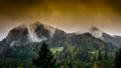 Steam rising from the mountains. Stock Footage