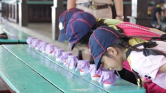 Student 9-10 years old, Scout in adventure activities, Scout Camp Stock Footage