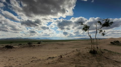 Clouds over a dune in the Gobi Desert, Mongolia. Full HD Stock Footage