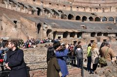 Colosseum amphitheater. Rome, Italy Stock Photos