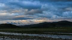 Sunrise on the Ulaan river, Mongolia. Full HD Stock Footage