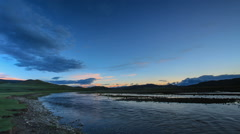 Sunset on the Ulaan river, Mongolia. Full HD Stock Footage