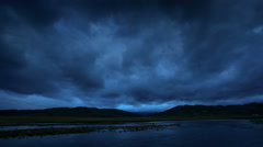 Sunrise on the Ulaan river, Mongolia. Full HD Stock Footage